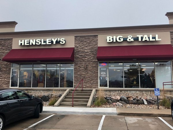 Hensley's Big and Tall Outfitters: 3342 100th St, Urbandale, IA