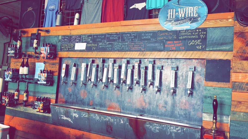 Hi-Wire Oktoberfest, hi-pitch mosaic IPA, lager, and Wheels of soul ...