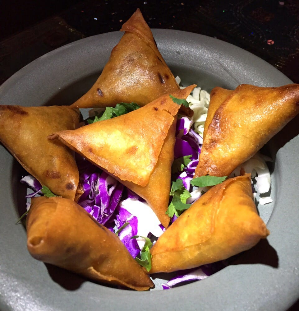 chicken samosa - delicious - mini bite sized triangles filled with