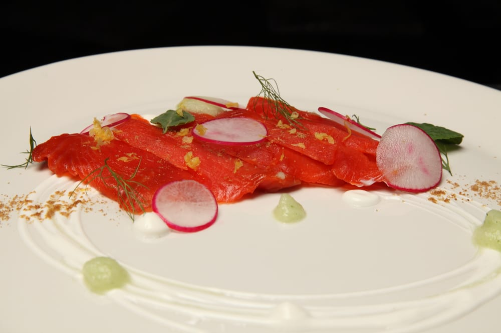 Cured salmon dill radish coriander sour cream yelp for Table 9 morgantown