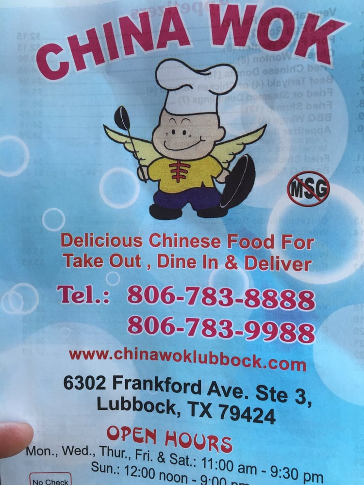 Lubbock (TX) United States  city photos : China Wok 6302 Frankford Ave Lubbock, TX, United States Reviews ...