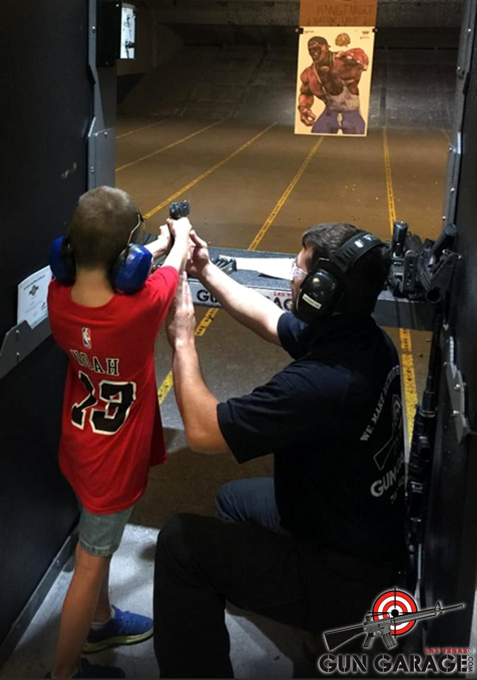 Children as young as 8 are welcome to shoot with us yelp for Gun garage las vegas