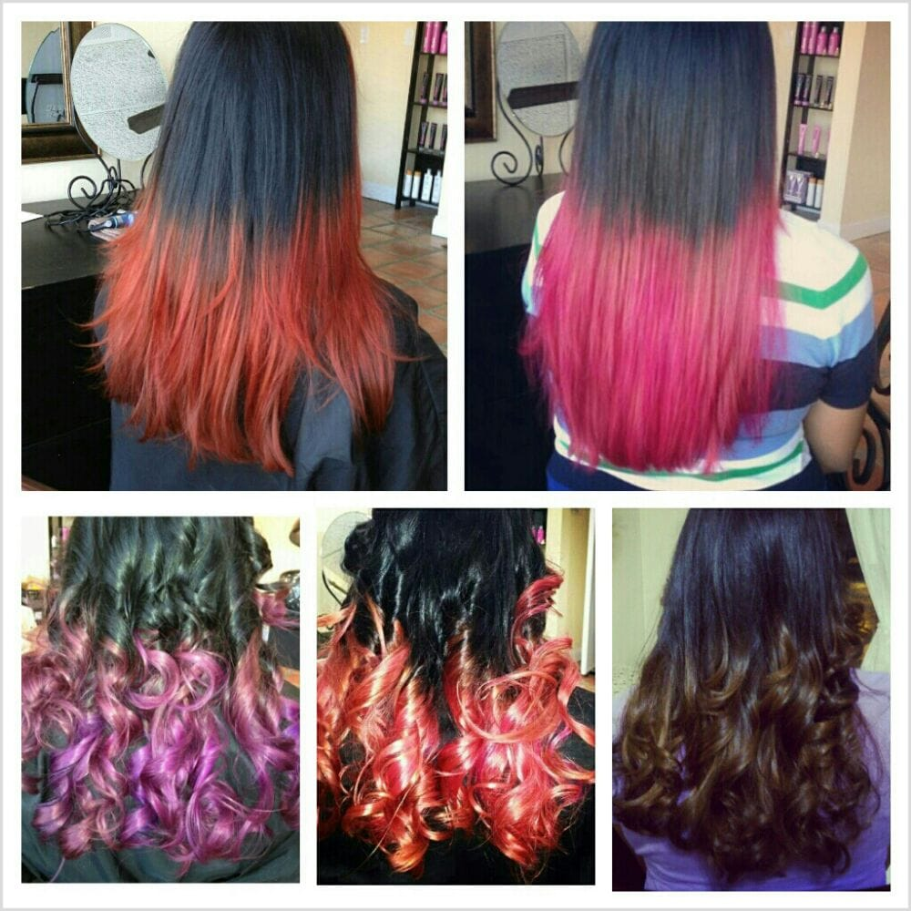 Different hair color ombre and hair dip dye yelp for A salon to dye for