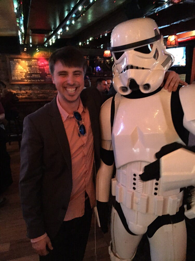 Spotted storm trooper for no reason yelp for Down the hatch meaning