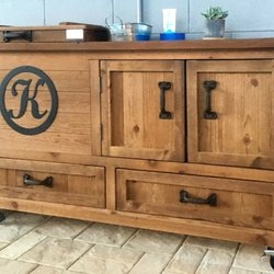 Photo Of Rustic WoodWorx   Alpharetta, GA, United States. Outdoor Wooden  Cooler Bar ...