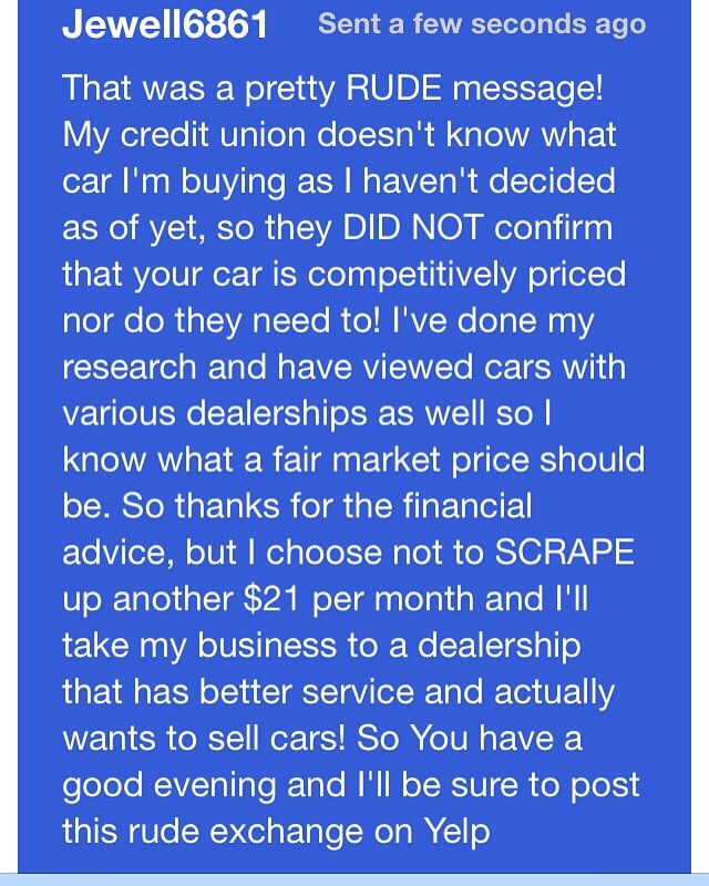 this was my reply to the very rude sales manager at metro honda nc after he sent a very rude. Black Bedroom Furniture Sets. Home Design Ideas