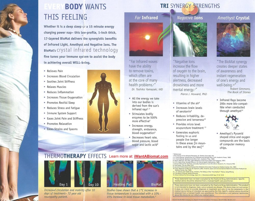 Amethyst/Far-infrared Pain, Sleep, & Arthritis Biomat Center