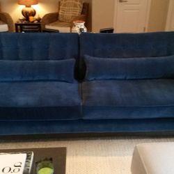 Photo Of Lazar Interiors   Dania, FL, United States. Blue Sofa Up Close