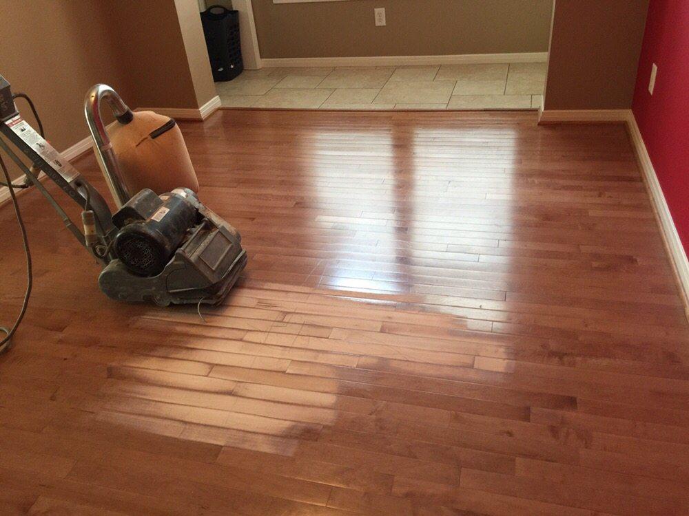 Sanding pre finish engineering yelp for Hardwood flooring 77041
