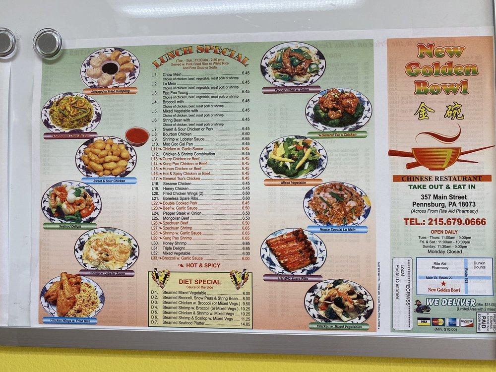 Golden Bowl II Chinese Restaurant: 357 Main St, Pennsburg, PA