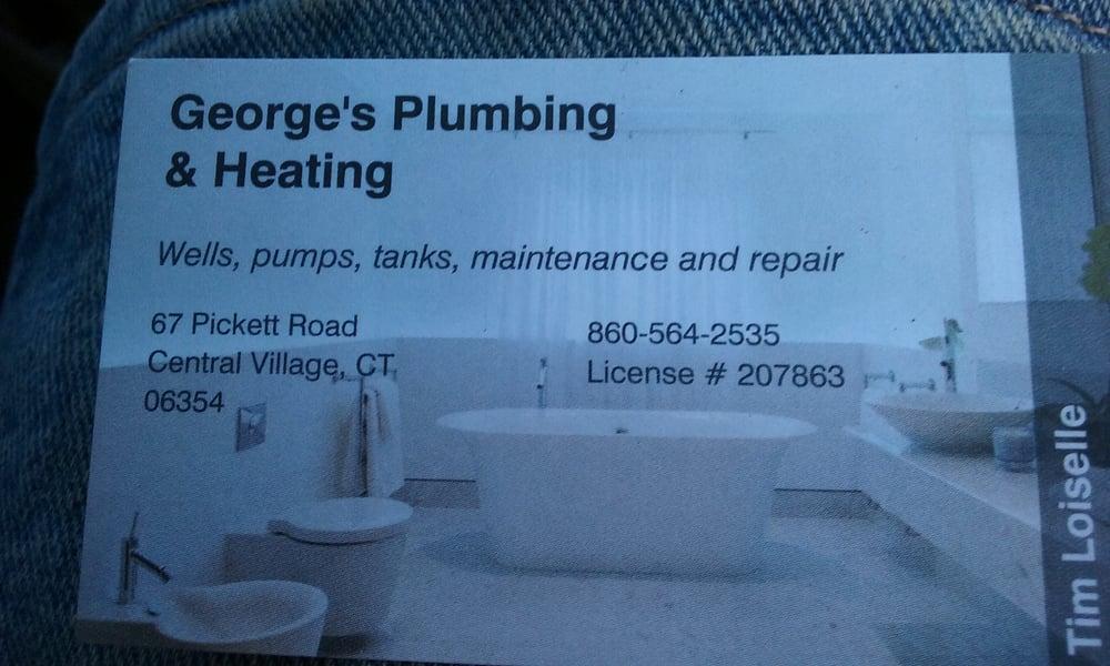 George's Plumbing & Heating: 61 Pickett Rd, Plainfield, CT