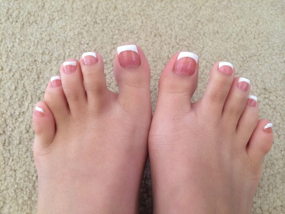 French manicure! Ignore weird looking toes - Yelp