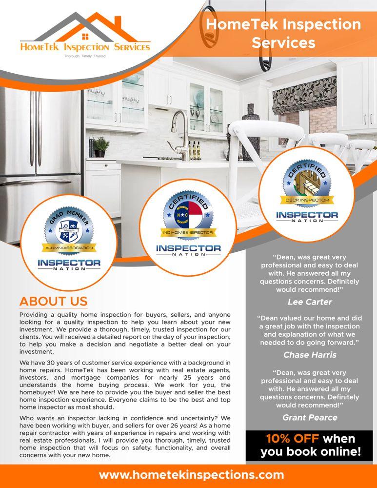 HomeTek Inspection Services: 806 Green Valley Rd, Greensboro, NC