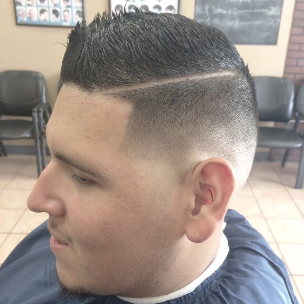 Fohawk With Hard Part Taper Fade Yelp