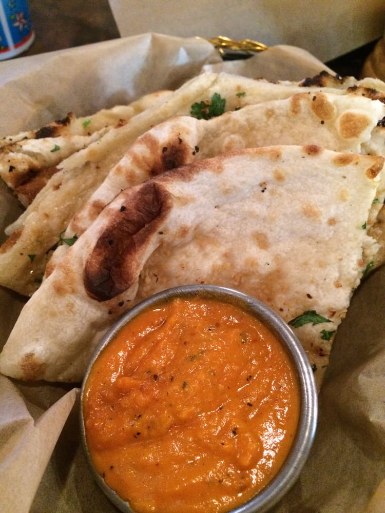 Garlic naan with amazing masala sauce so good yelp for Tamarin cuisine
