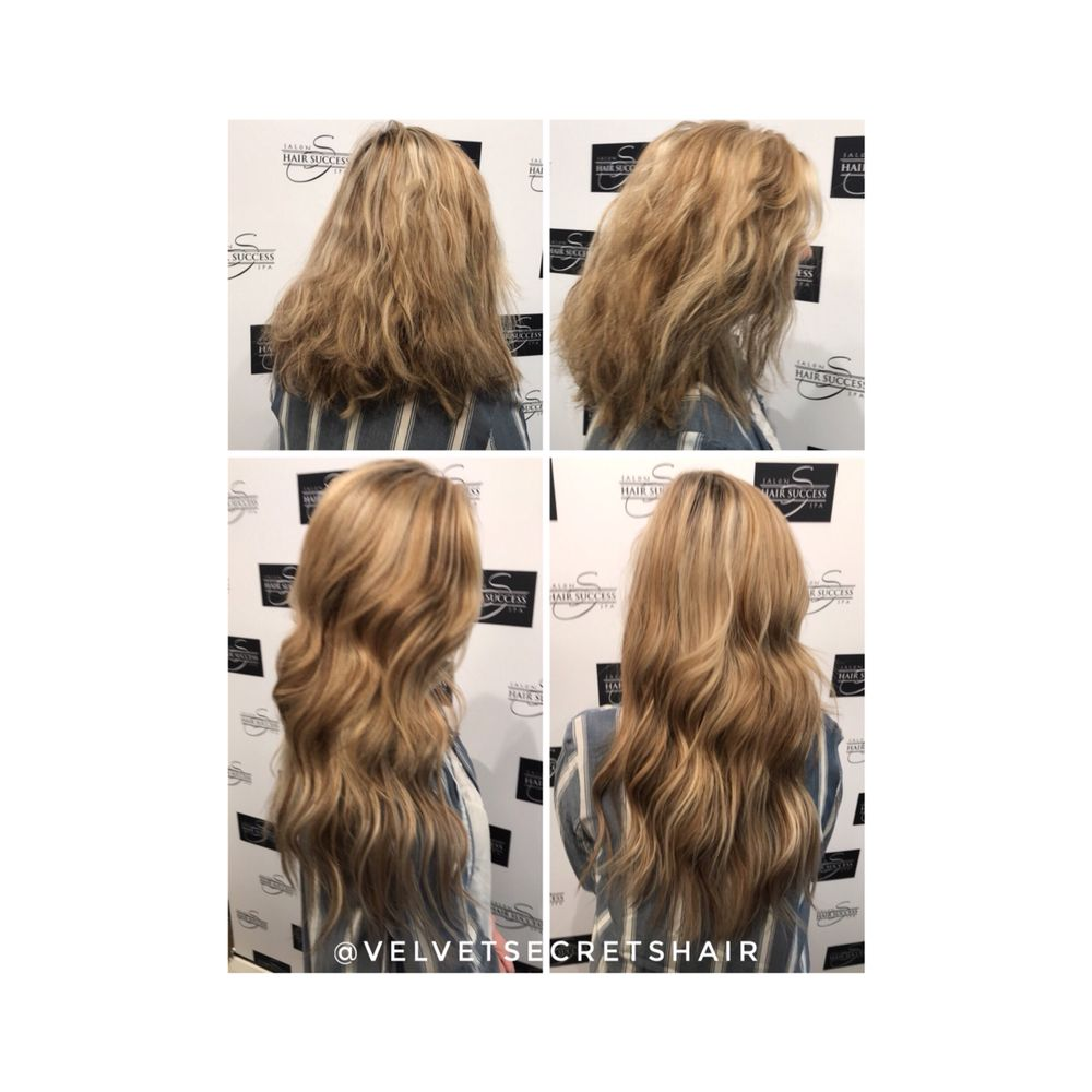 Tape In Remy Human Hair Extensions Installed By Tricia Braaten At