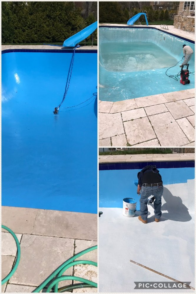 In ground swimming pool epoxy paint job. - Yelp