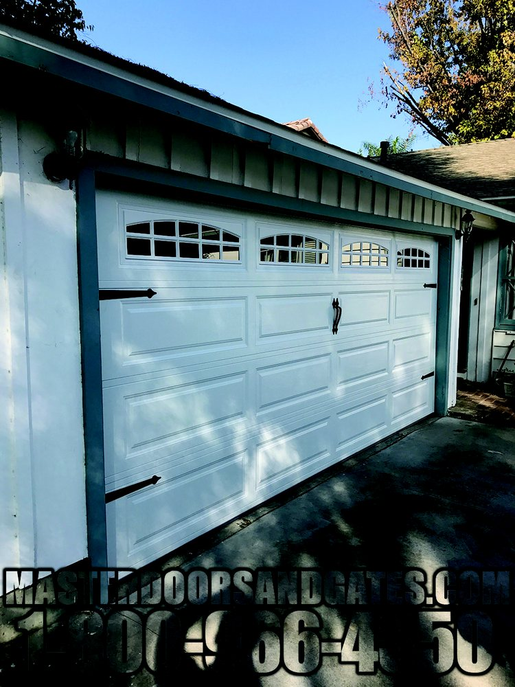 Steel Long Panels Garage Door With Hardware Decoration - Yelp
