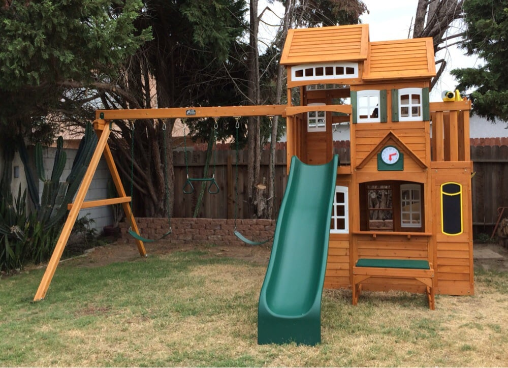 Cedar summit mount forest lodge set from costco yelp photo of swing set pros san fernando valley ca united states cedar publicscrutiny Image collections