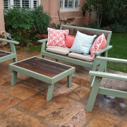 Photo Of Sanfords Foothill Fountains   Pasadena, CA, United States.  Reclaimed Patio Set ...