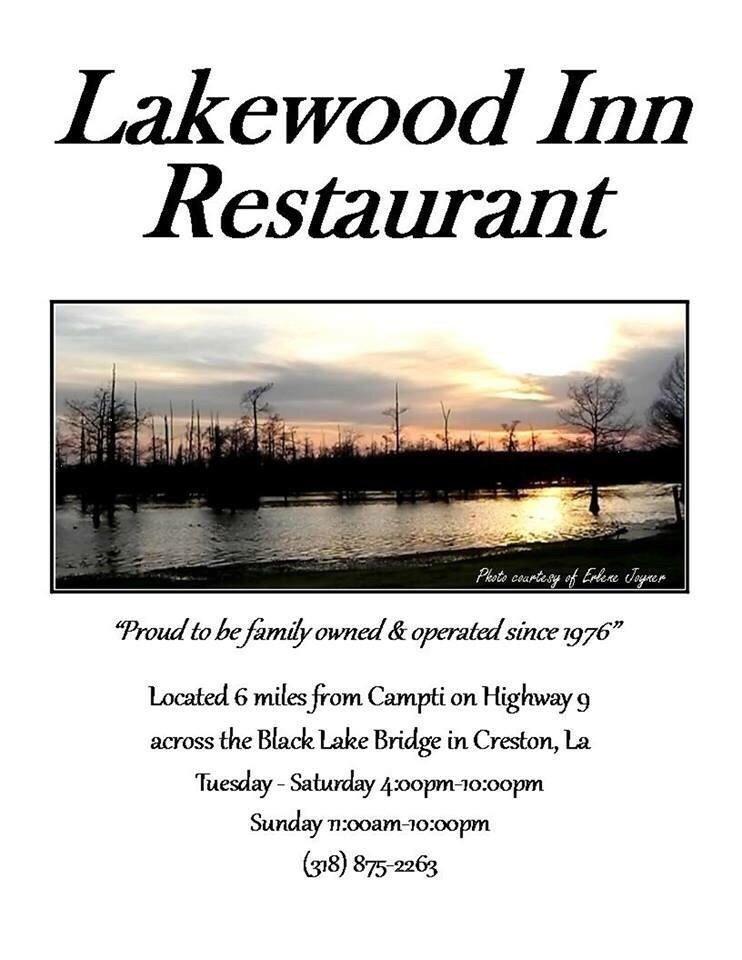 Lakewood Inn Restaurant: 5675 Highway 9, Saline, LA