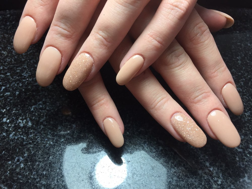 Nude Nexgen with Sparkle nail - Yelp