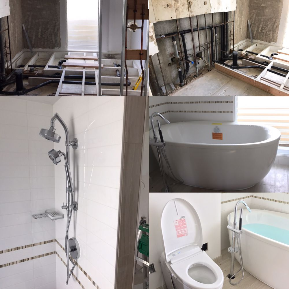 Bathroom remodel at colony surf. We installed a toto bidet toilet ...