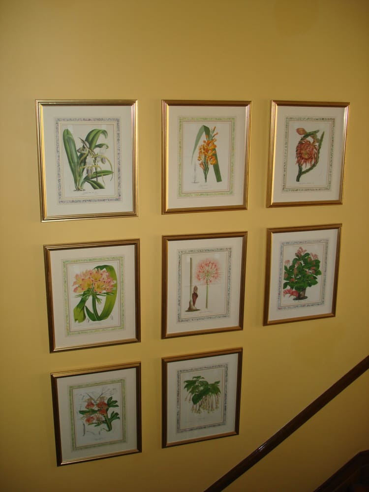 The Botanical Prints My Dear Hubster Hung Them On Our Stairwell He Had To Use A Laser And