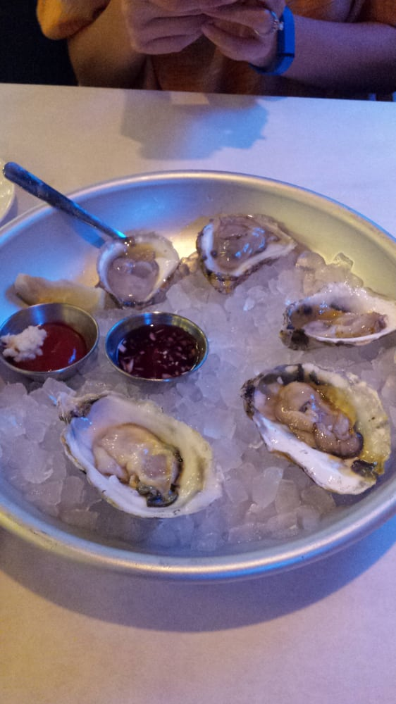 East and west coast oysters yelp for Jax fish house kansas city