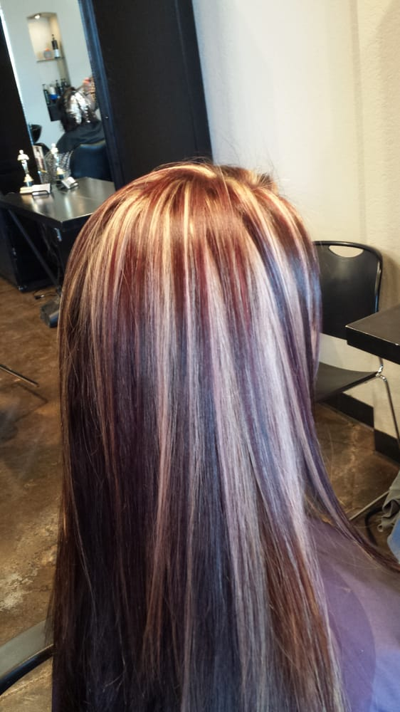 Blonde Red And Brown Highlight Lowlight Hair By Morgan