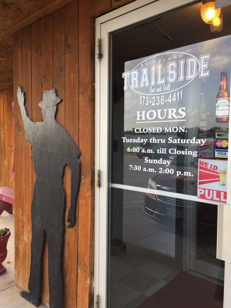 Trailside Bar & Grill: 111 Bluff St, Rhineland, MO