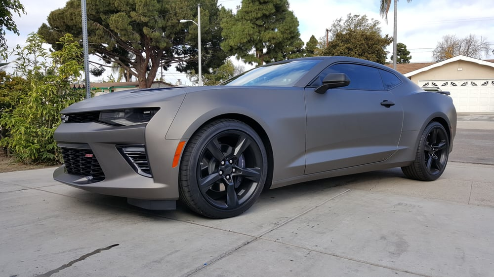 5th Gen Camaro For Sale >> Matte charcoal vinyl wrapped 2016 Camaro SS. - Yelp
