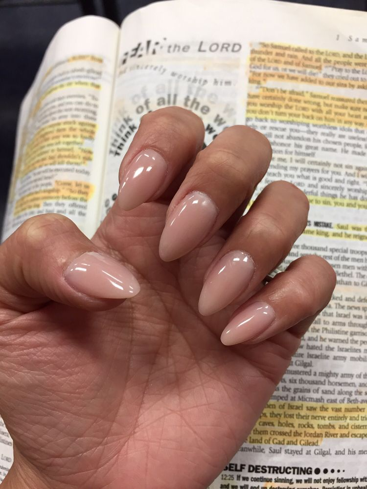 Colored powder overlay on my real nails. #291 Natural Way. By Joanne ...