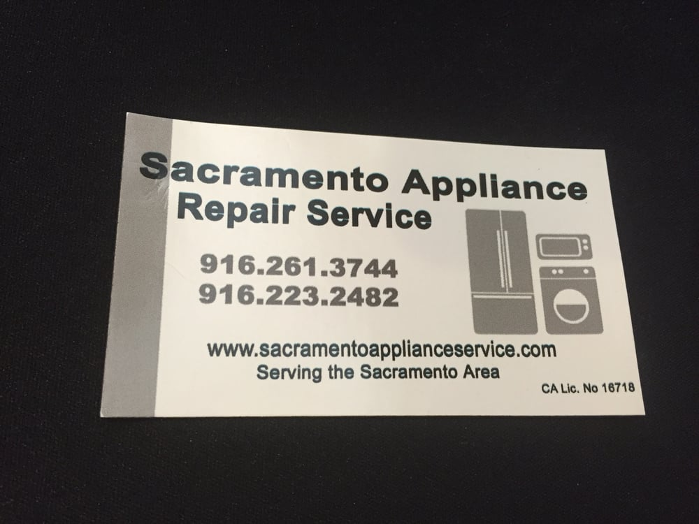 Business Card For Sacramento Appliance Repair