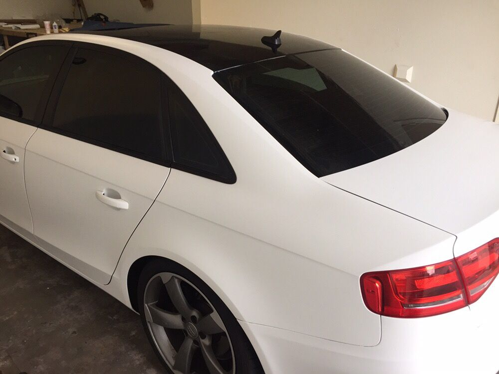 Audi A4 3M Satin White with Gloss Black Roof (Originally ...
