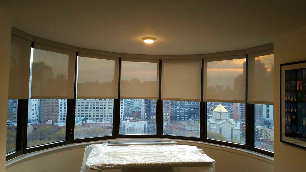 Nycityblinds uppereastside electric solar shades somfy for Motorized solar shades reviews