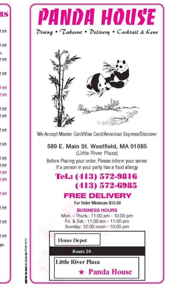 Panda House panda house - 20 reviews - chinese - 589 e main st, westfield, ma