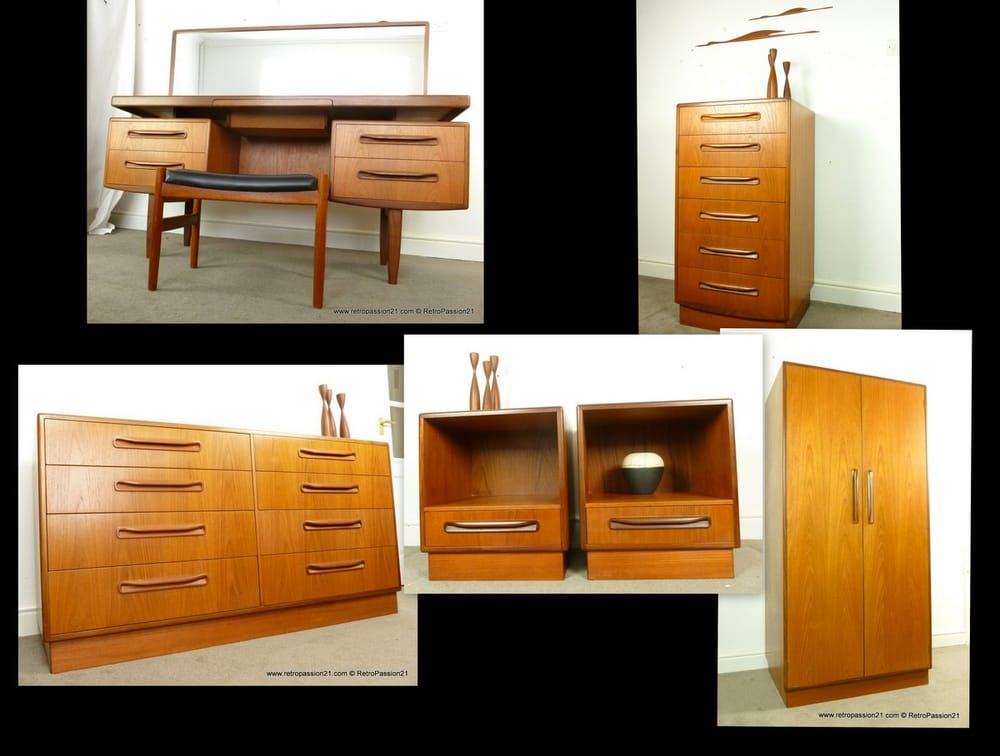 Mid century g plan fresco teak bedroom furniture yelp for G plan bedroom furniture for sale
