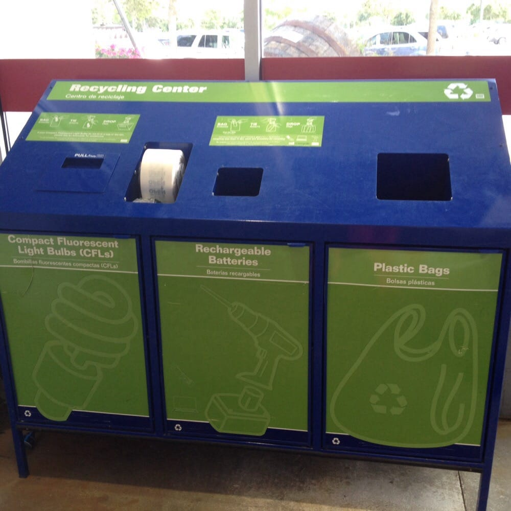 Recycle Your Light Bulbs, Batteries, And Plastic Bags.