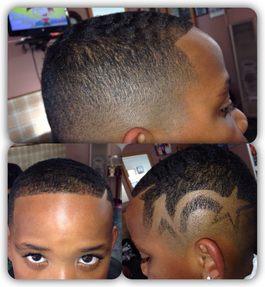 102013 Bald Fade With Star Design Cut By Joshua Yelp