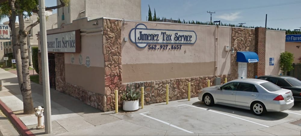 Jimenez Tax Service Tax Services 6434 Florence Ave Bell Gardens Ca United States Phone