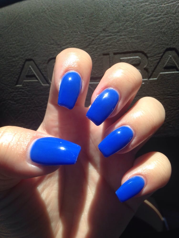Nails Done Blue