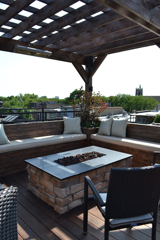 Roof Deck, Pergola And Fire Pit