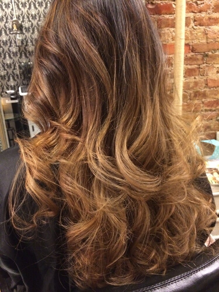 balayage ombr by jimmy he used caramel tones and touched. Black Bedroom Furniture Sets. Home Design Ideas