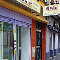 El taller de la copia material de oficina calle feria for Servicio tecnico jane sevilla calle feria