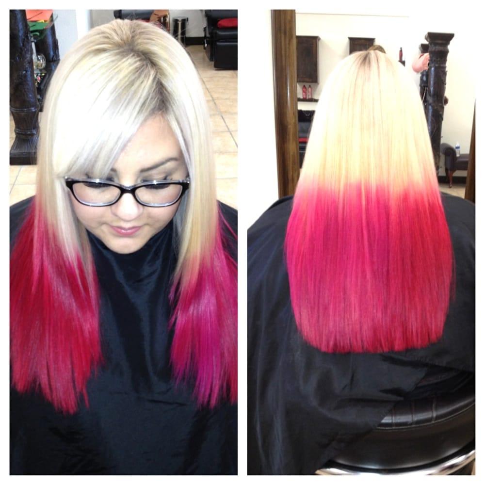 Black Hair Hot Pink Tips Www Pixshark Com Images