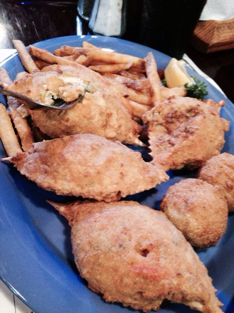 Stuffed crabs yelp for Whitey s fish camp