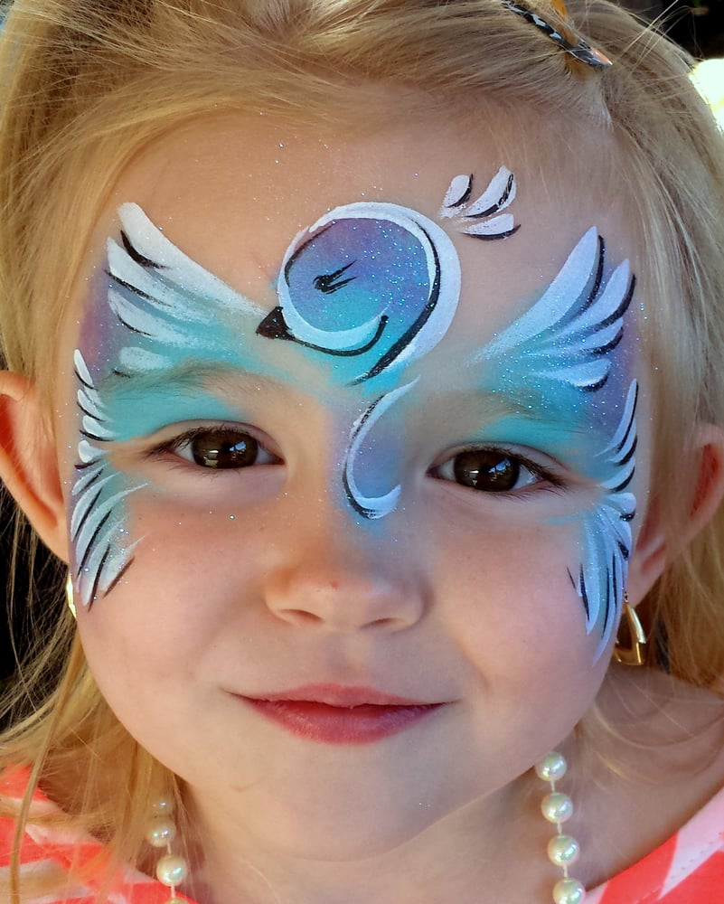 bird face paint images galleries with a bite. Black Bedroom Furniture Sets. Home Design Ideas