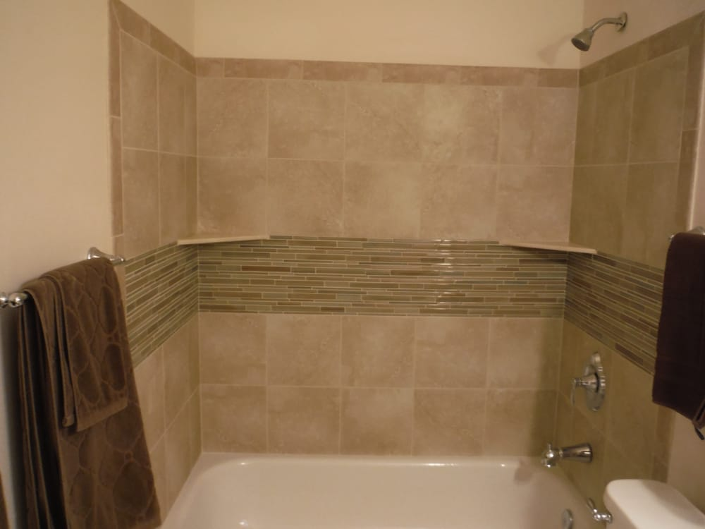 Bathroom Fixtures Escondido tub surround and new plumbing with fixtures. - yelp