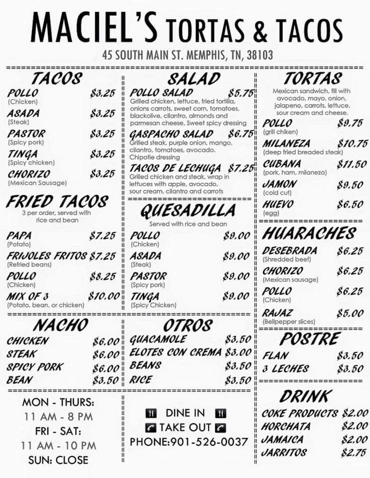 Mexican Restaurant On Main Street Memphis